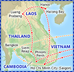 Ancient Capitals of Indochina itinerary