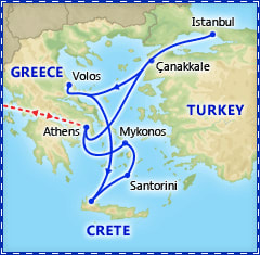 Athens & 7 Day Greece & Turkey Cruise itinerary