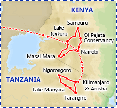 Best of Kenya & Tanzania Safari itinerary