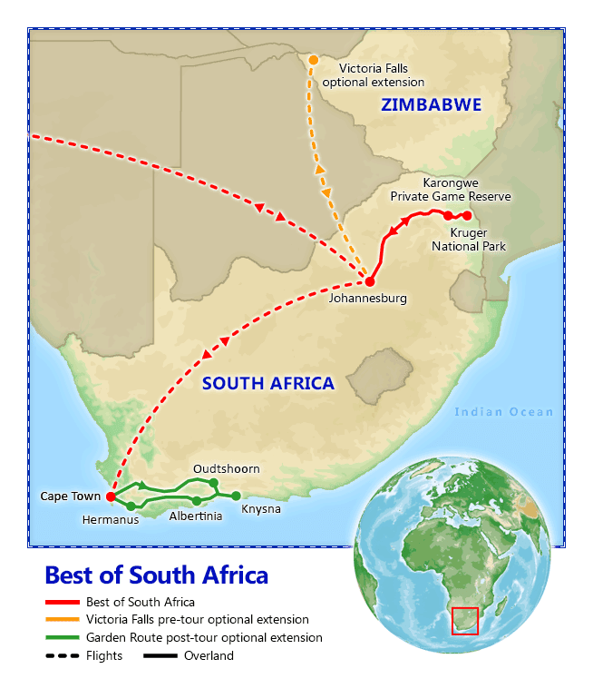 Best of South Africa, 2019 - Vacation Packages by Friendly