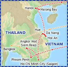 Best of Vietnam & Cambodia itinerary