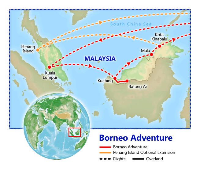 Borneo Island: Borneo Adventure, Sep 2018