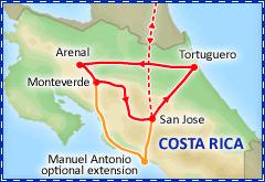 Costa Rica Pura Vida itinerary