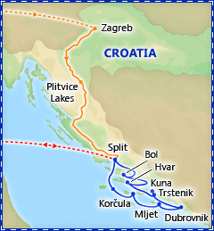 Croatia Cruise Adventure itinerary
