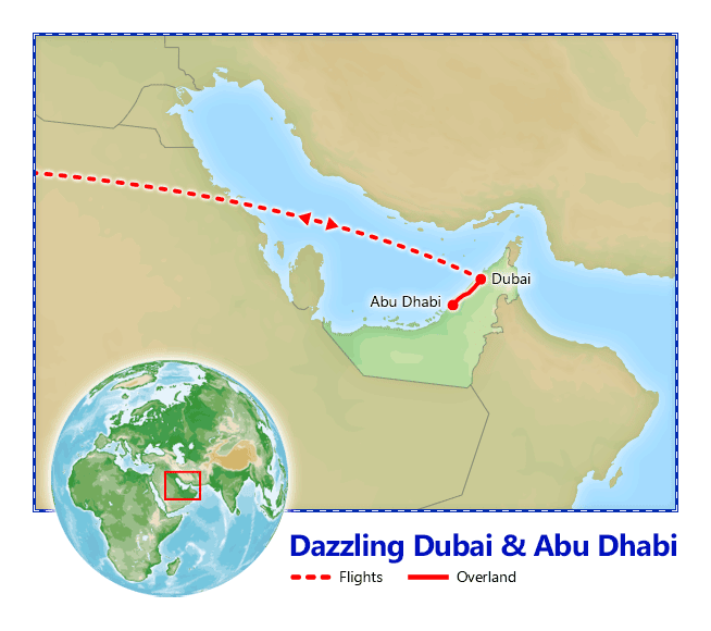 Dazzling Dubai Abu Dhabi Vacation Packages by Friendly Planet Travel