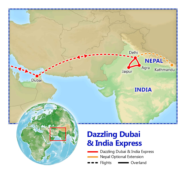Dazzling dubai india express vacation packages by friendly dazzling dubai india express itinerary gumiabroncs Images