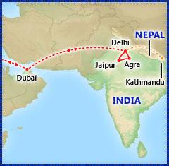 Dazzling Dubai & India itinerary