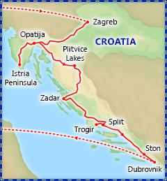 Discover Croatia itinerary