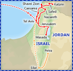 Discover Israel itinerary