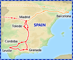 Discover Spain itinerary