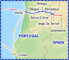 Portugal's Douro River Valley Cruise itinerary