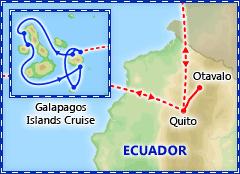 Ecuador & Galapagos Cruise itinerary