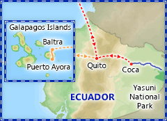Ecuadorian Amazon Cruise Adventure itinerary