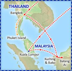 Exotic Borneo & Bangkok itinerary
