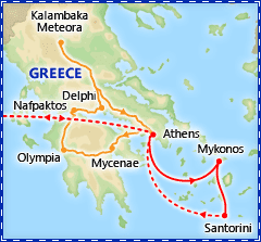 Greek Island Hopper itinerary