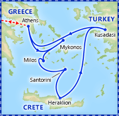 Greek Island Special: 7 Day Cruise & Athens itinerary