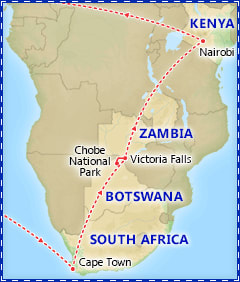 Highlights of Southern Africa itinerary