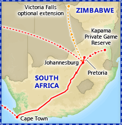 Incredible South Africa with Rovos Luxury Train itinerary