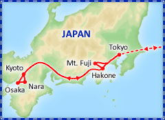 Japan Panorama itinerary