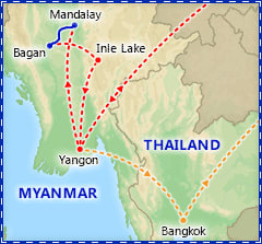 Mystical Myanmar itinerary