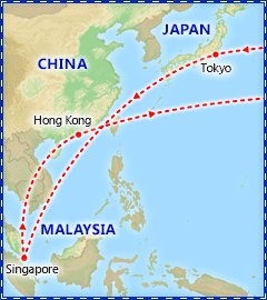 Orient Adventure itinerary