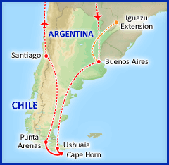 Patagonian Explorer by Sea itinerary