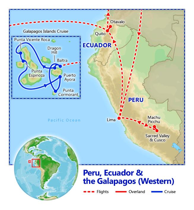 Galapagos On World Map.Peru Ecuador Galapagos Cruise Dec 25 2018 2019 Vacation