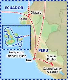Peru, Ecuador & Galapagos Cruise itinerary
