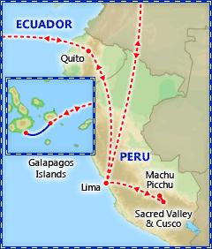 Peru, Galapagos Islands & Quito itinerary