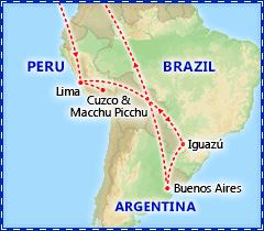 Peru, Iguazu Falls & Buenos Aires itinerary