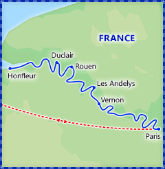 Romantic Seine River Cruise with Paris & Normandy itinerary