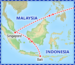 Singapore & Bali Adventure itinerary