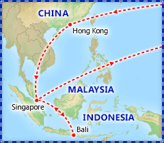 Singapore, Hong Kong & Bali Adventure itinerary