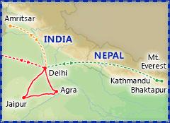 Taj Mahal Express itinerary