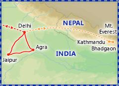 Taj Mahal Express & Holi, Festival of Colors itinerary