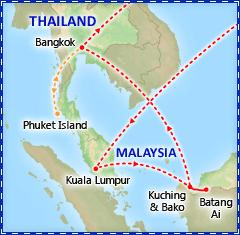 A Taste of Malaysia, Borneo & Bangkok itinerary
