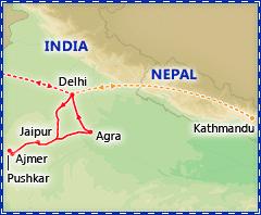 A Taste of India & Pushkar Camel Fair itinerary