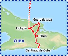 Treasures of Eastern Cuba itinerary
