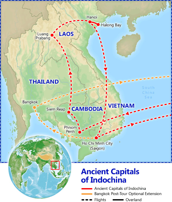Ancient Capitals of Indochina map