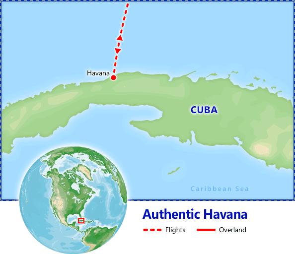 Authentic Havana map