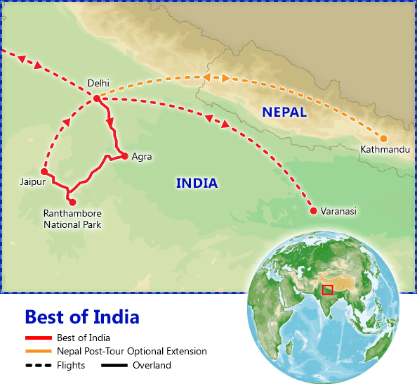 Best of India map