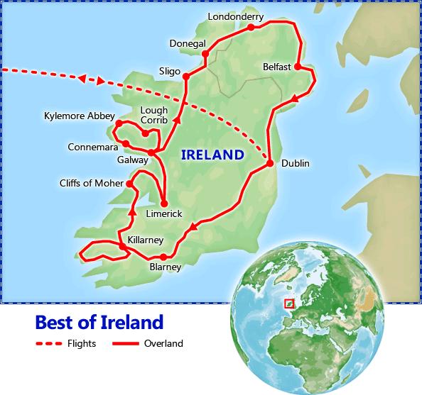 Best of Ireland map