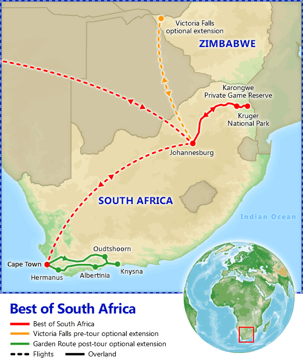 Best of South Africa map