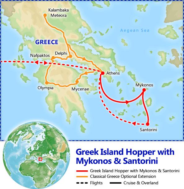 Greek Island Hopper map