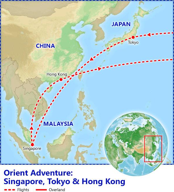 Orient Adventure map