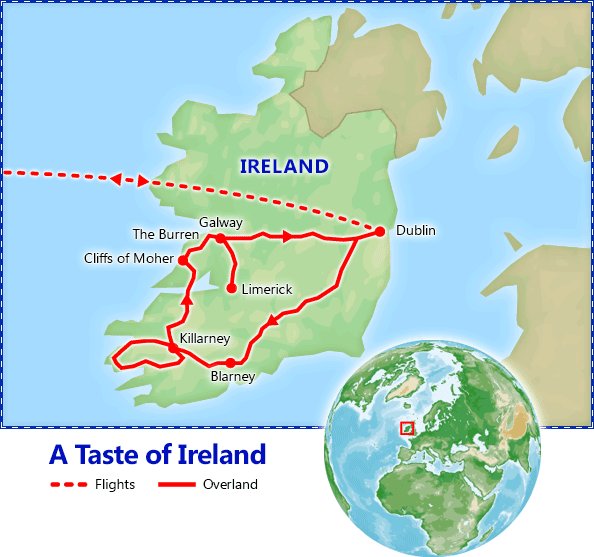 A Taste of Ireland: St. Patrick's Day map