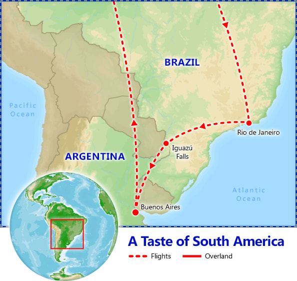 A Taste of South America map