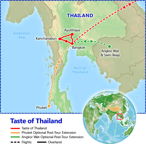 A Taste of Thailand map