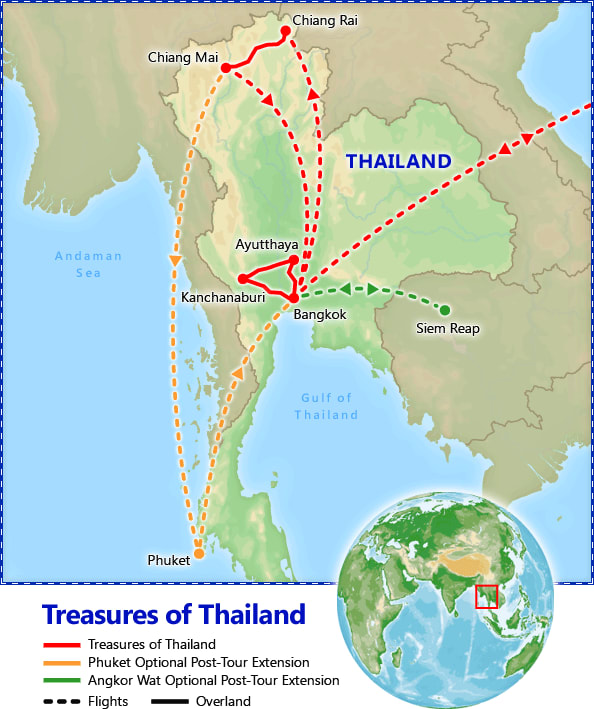 Best of Thailand map