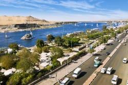 Nile waterfront, Aswan